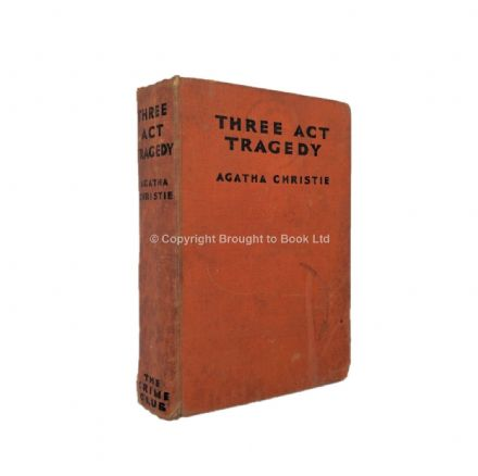 Three Act Tragedy by Agatha Christie First Edition The Crime Club by Collins 1935